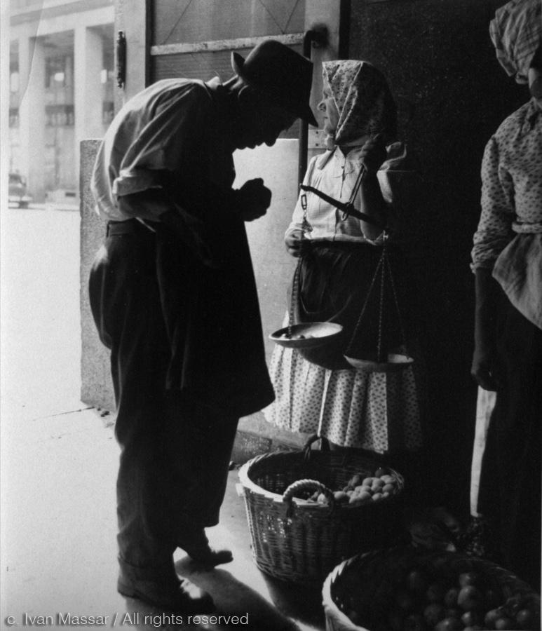 Marketplace. Zagreb, 1950
