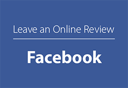 Leave an online review on Facebook link button