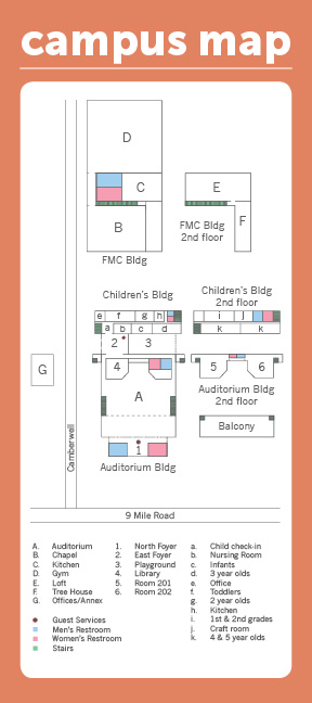 Children Back Campus Map