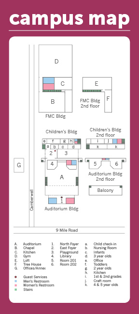 Adult Back Campus Map
