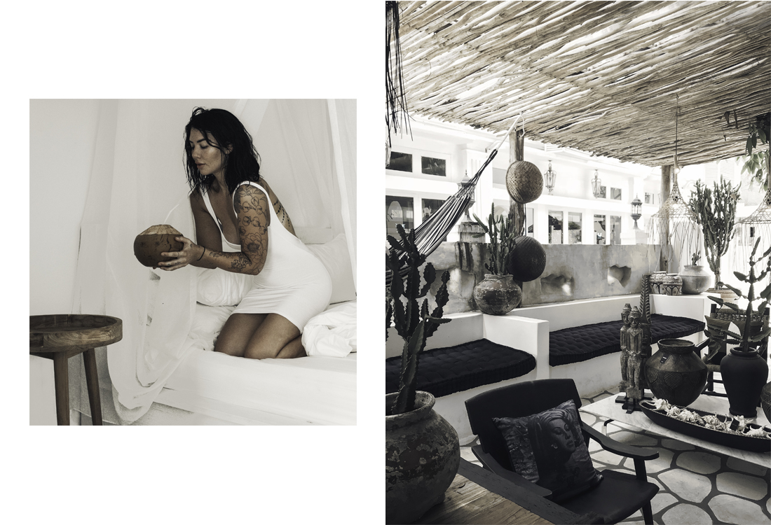 Left: Portrait. Right: Homewares store in Seminyak.