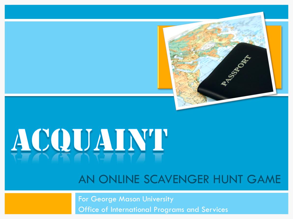 Final presentation for ACQUAINT project proposal.