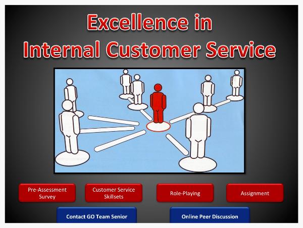 Final presentation for Excellence Internal Customer Service design prototype.