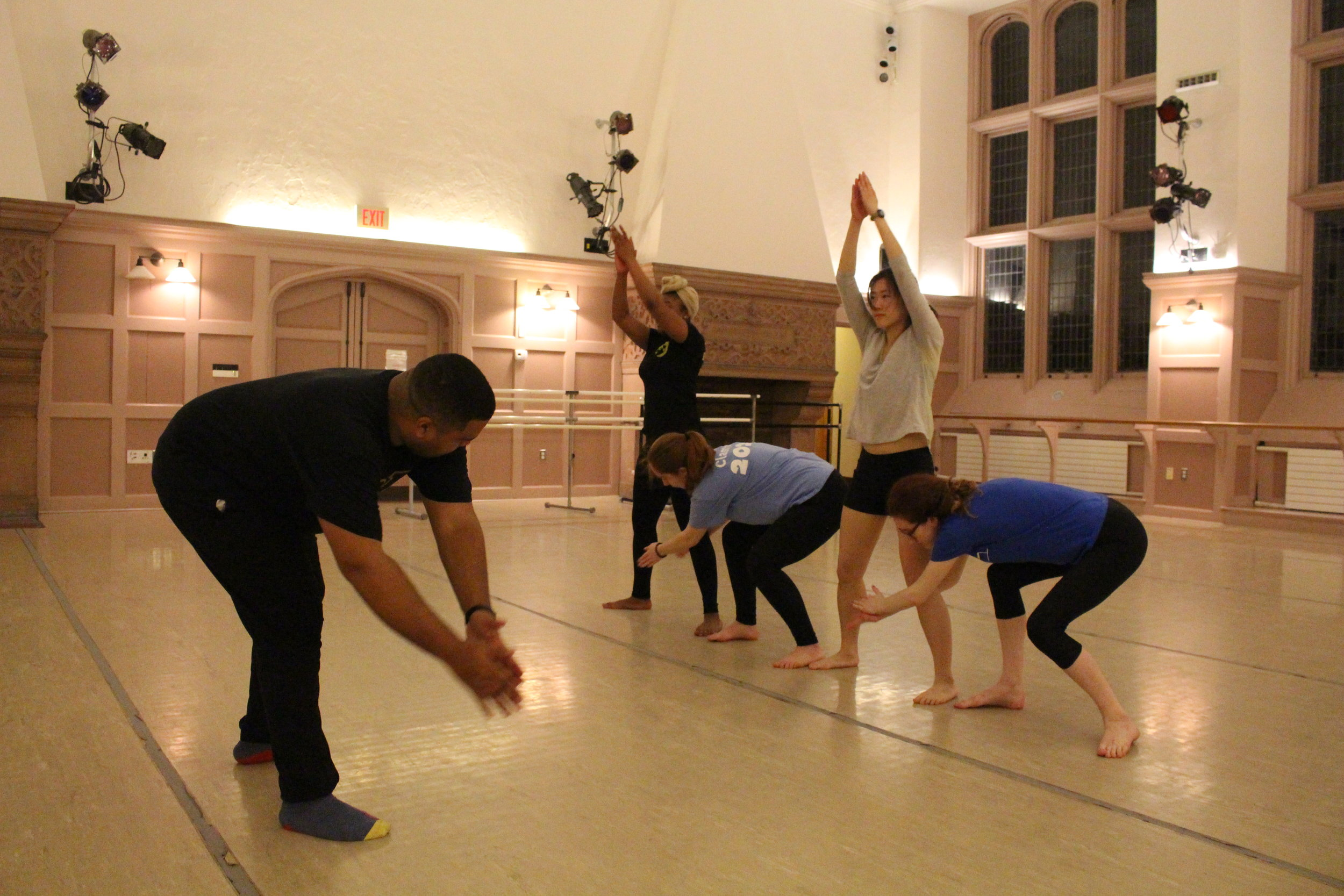 Gary taught the dance students two multiple-part steps and one transition step to be performed at their culminating end-of-year program.