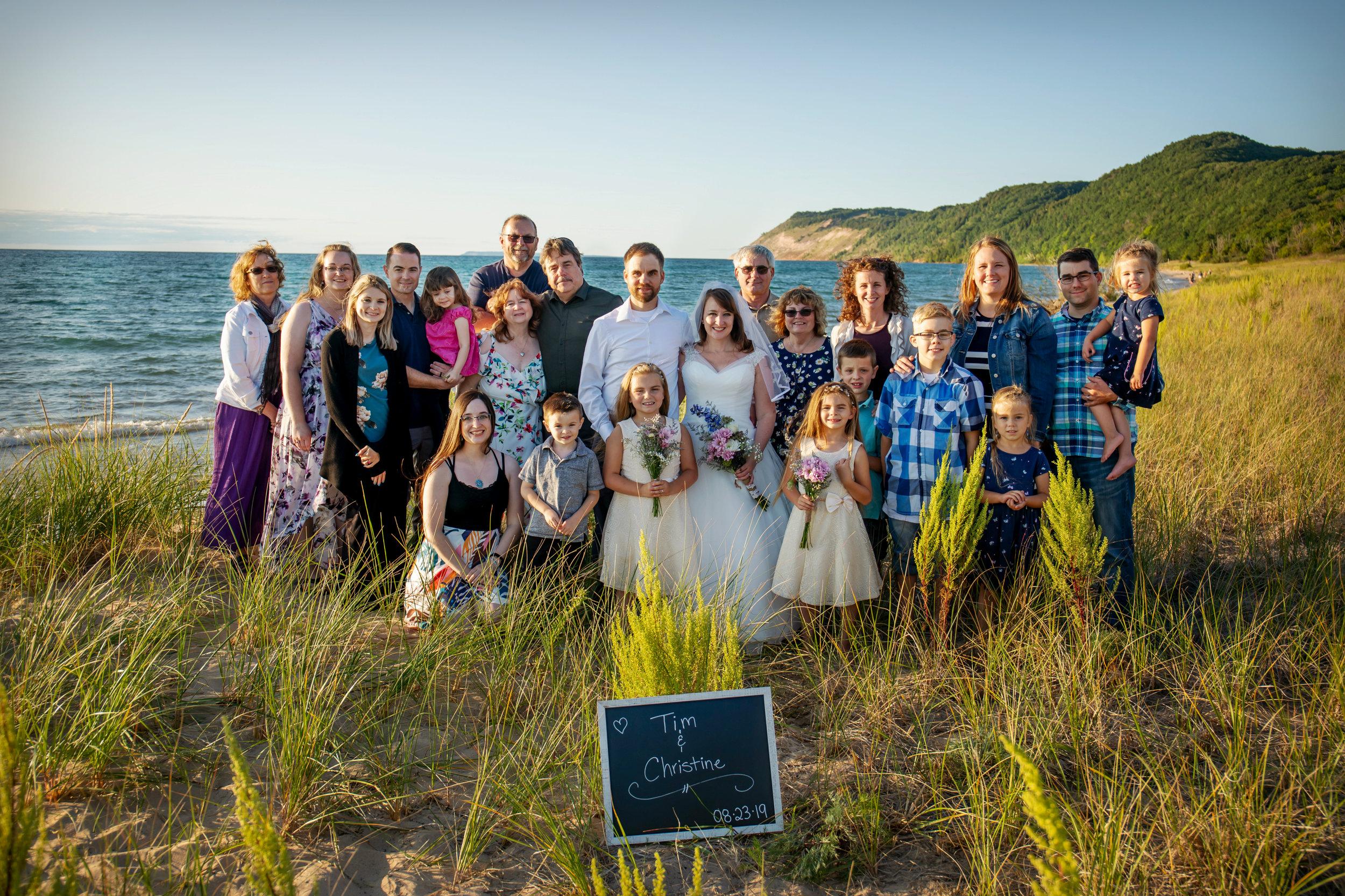 Riley Wedding 8.23.2019 Honor, Michigan.