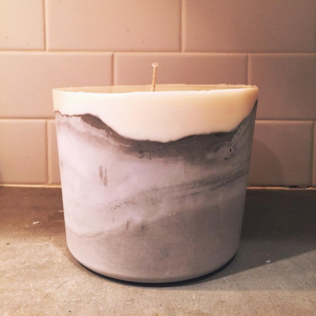 Concrete Candle - Large