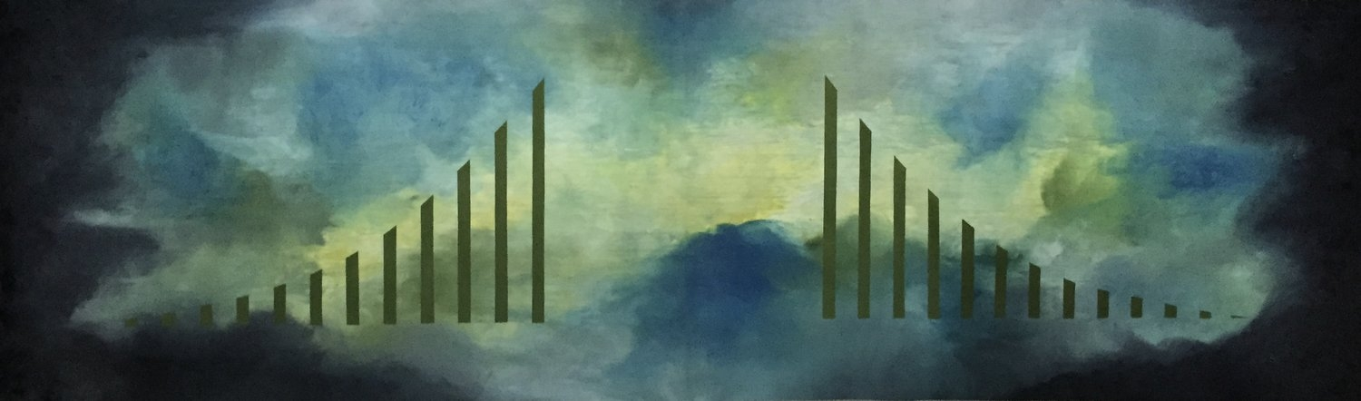 """Bridge to the Light oil on linen 22"""" x 78"""" by Lisa Collodoro www.lisacollodoro.com Click on image to view website"""