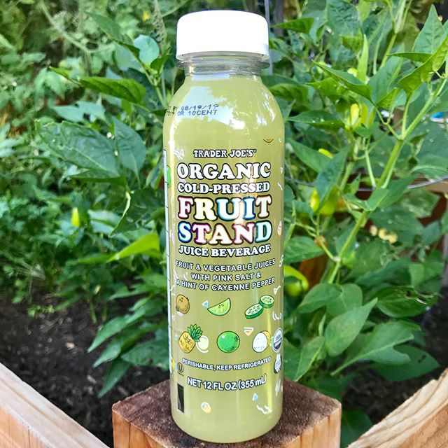 Picked this Cold Pressed Fruit Stand Juice out of the garden this morning ☀️🌿 this juice is perfect to sip on poolside or even mixed with your favorite tequila - to be savored responsibly.