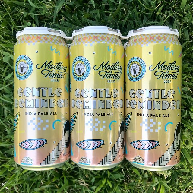 Hanging out back this weekend with the Gentle Reminder IPA - @moderntimesbeer + @pizzaportbrewingco collab. Happy to see this stocked @traderjoes so grab this seasonal six pack while it lasts. (This brew to be enjoyed by those 21+)