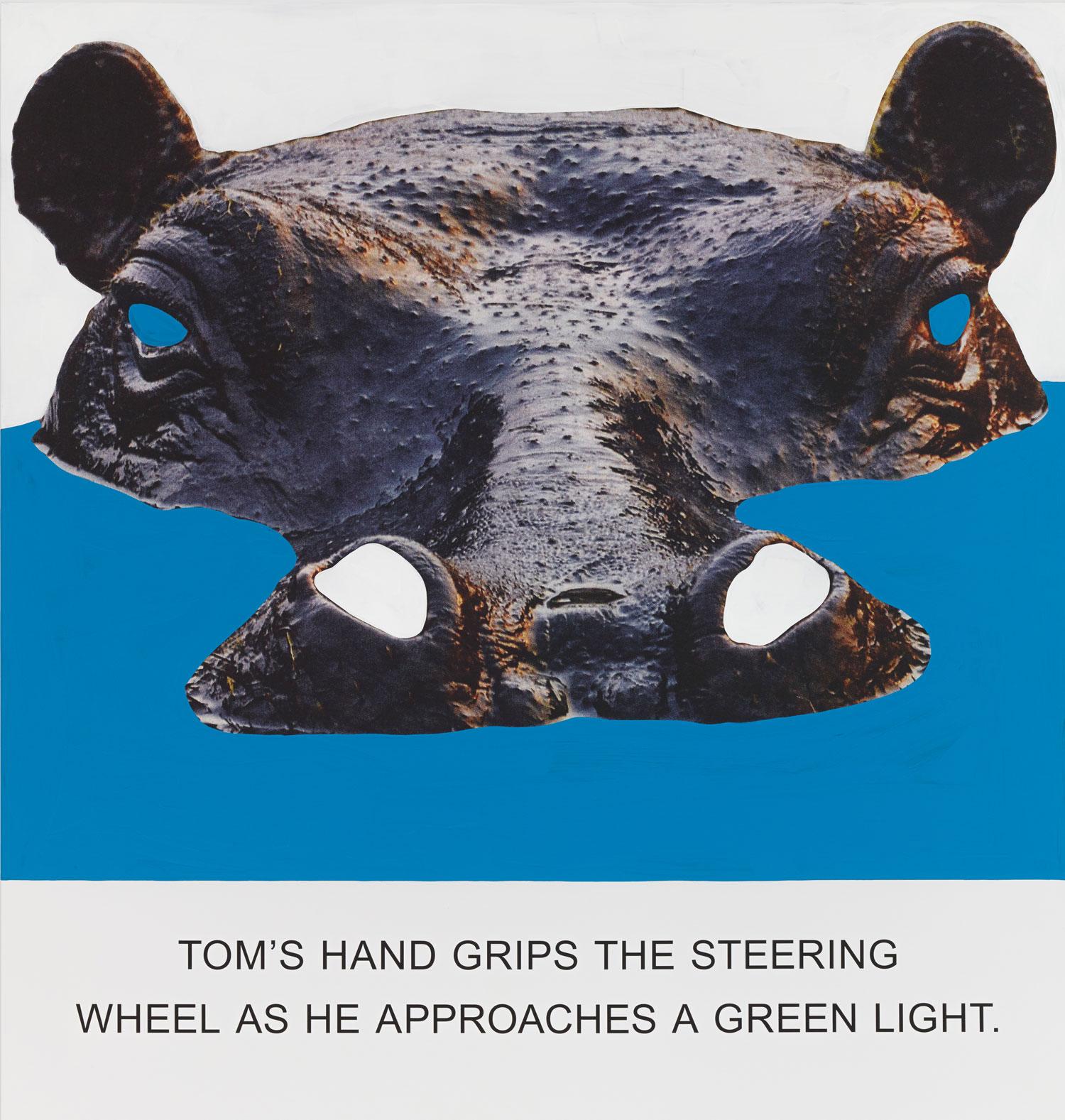 Tom's Hand Grips The Steering, Wheel…,  2015  © John Baldessari