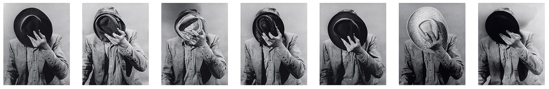 Portrait: Artist's Identity Hidden With Various Hats,  1974  ©John Baldessari