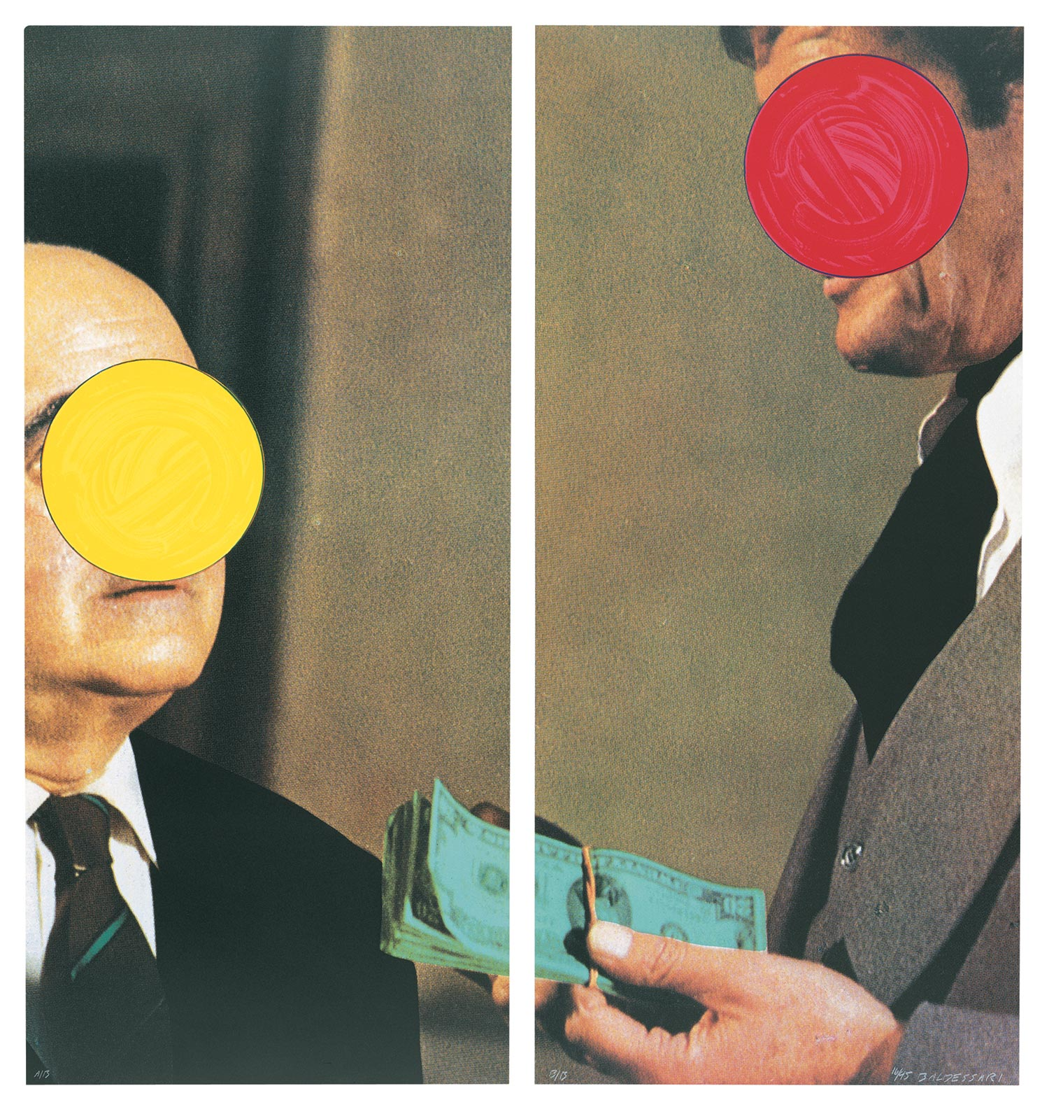 Money (with Space Between) , 1991 Publisher: Gemini G.E.L., Edition of 45.  ©John Baldessari
