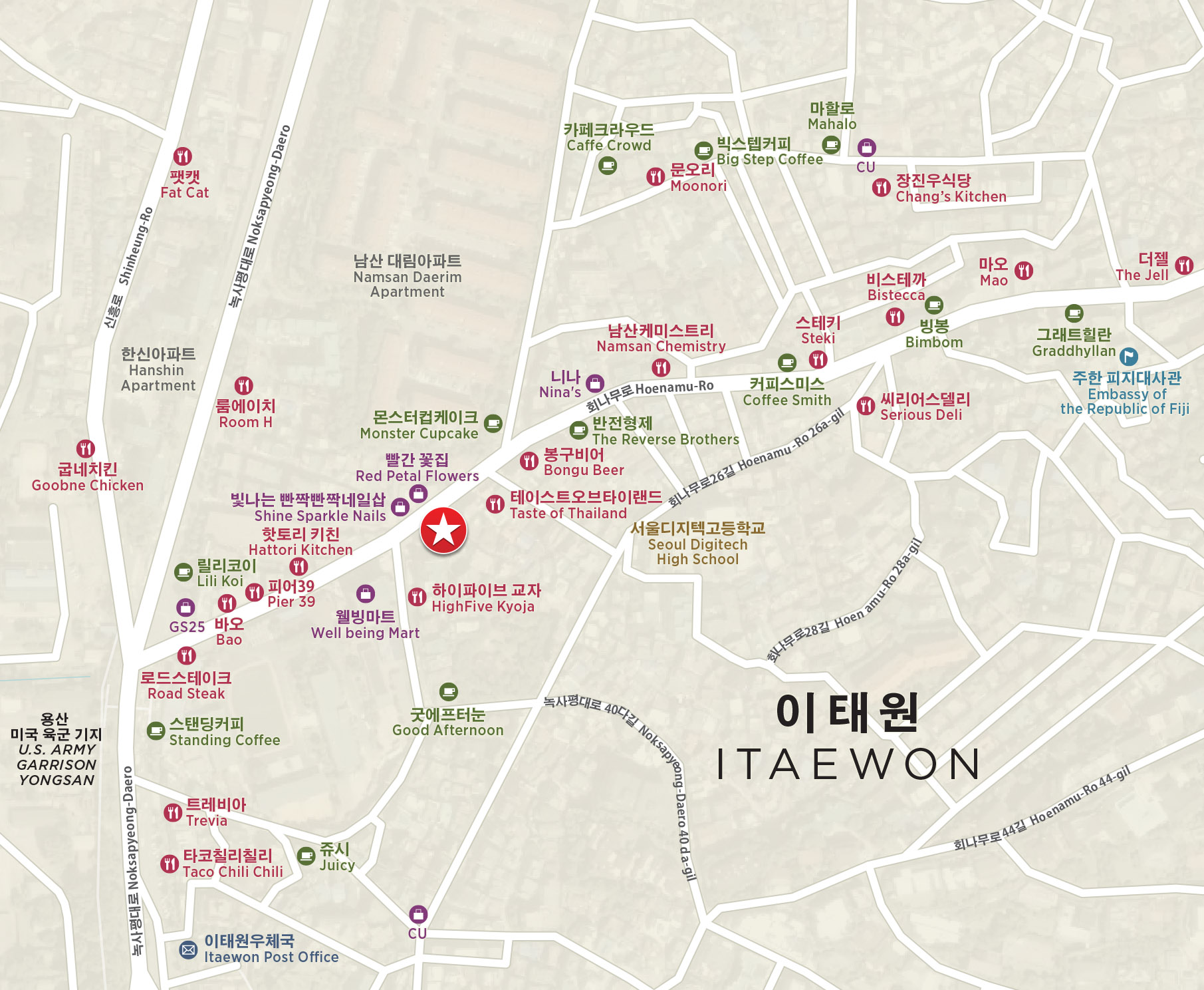 Itaewon Seoul South Korea Amenities Map.jpg