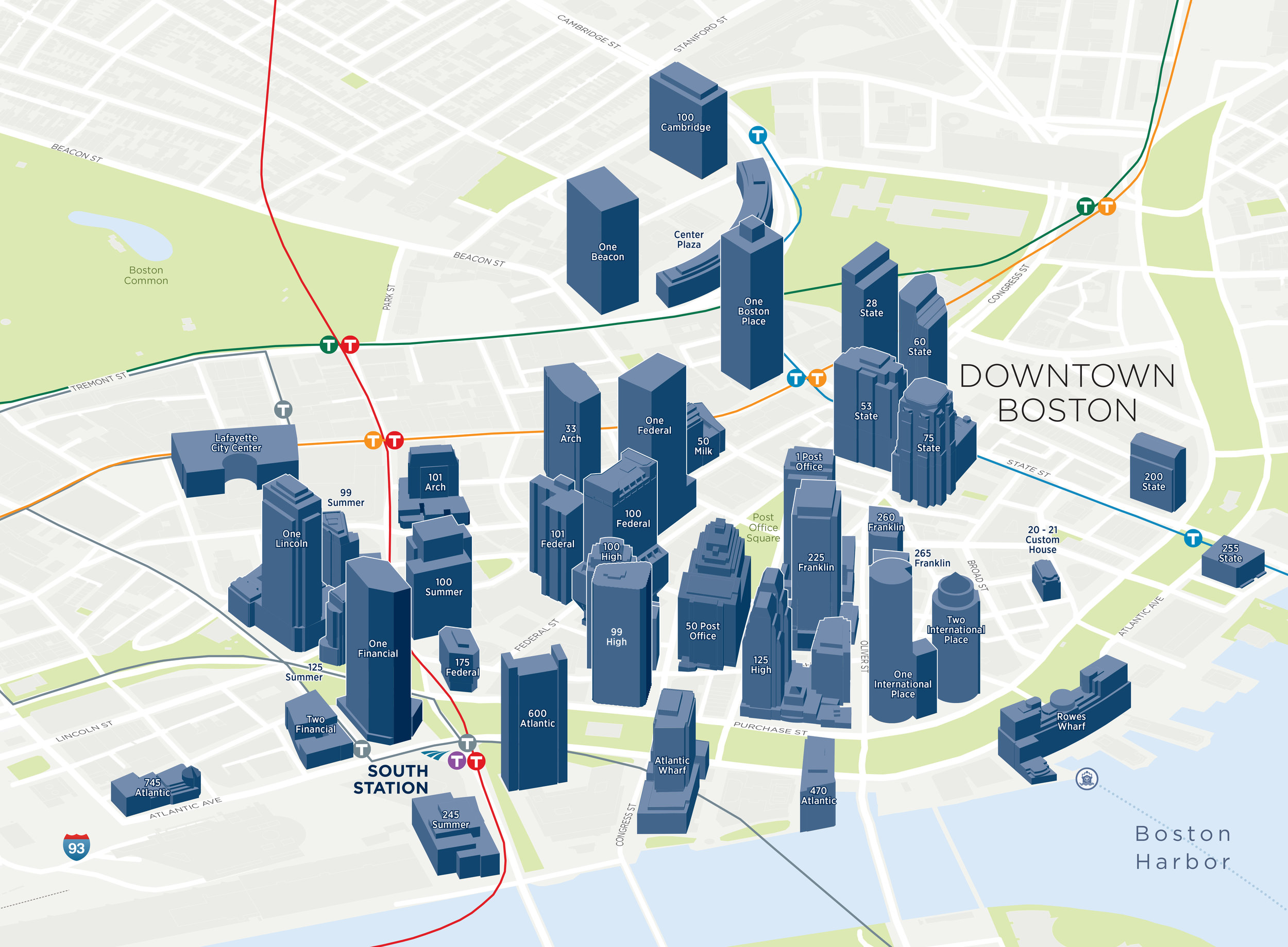Boston Massachusetts Downtown Financial District 3D Buildings Map .jpg