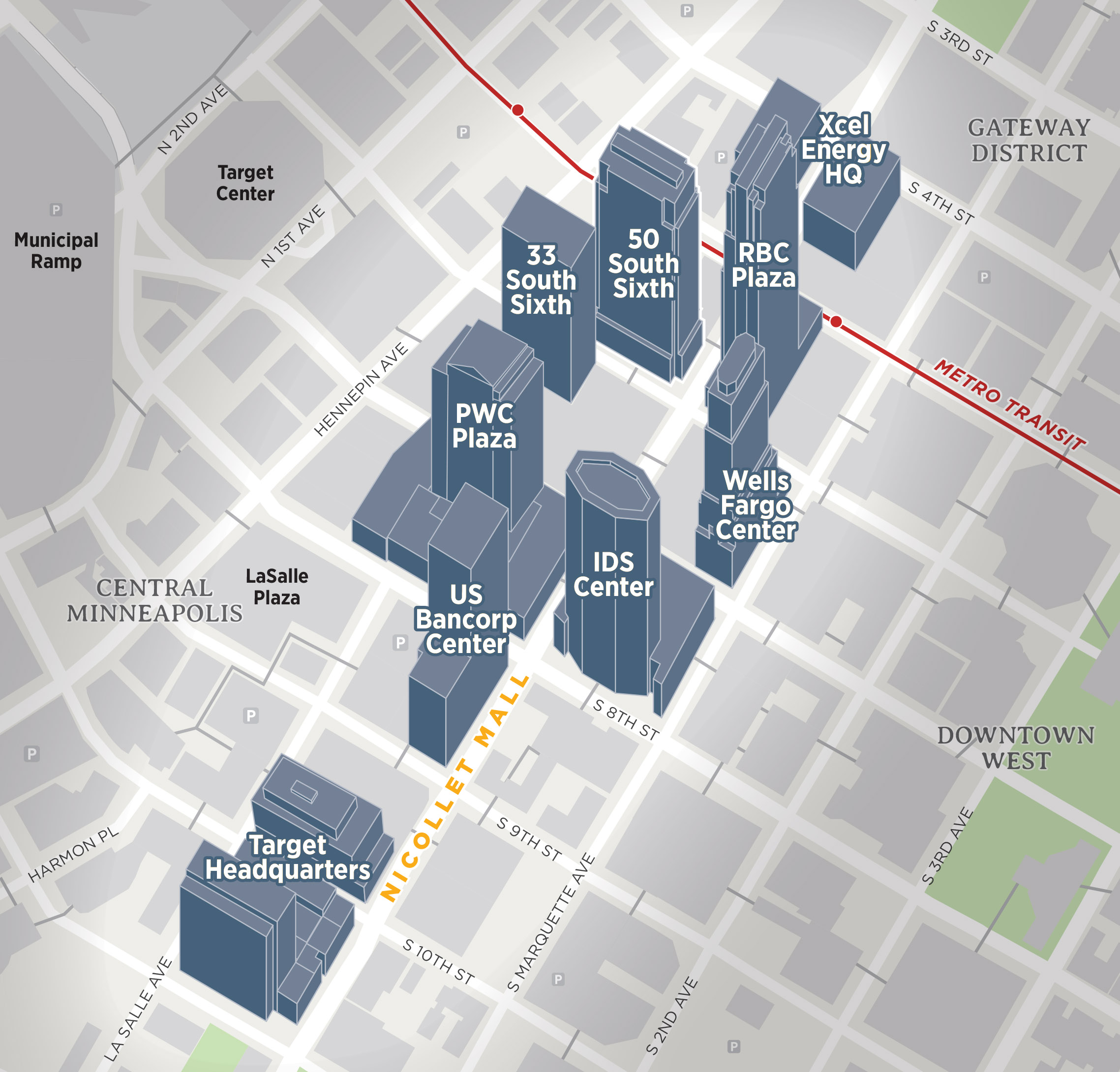 Minneapolis Minnesota Downtown 3D Buildings Map.jpg