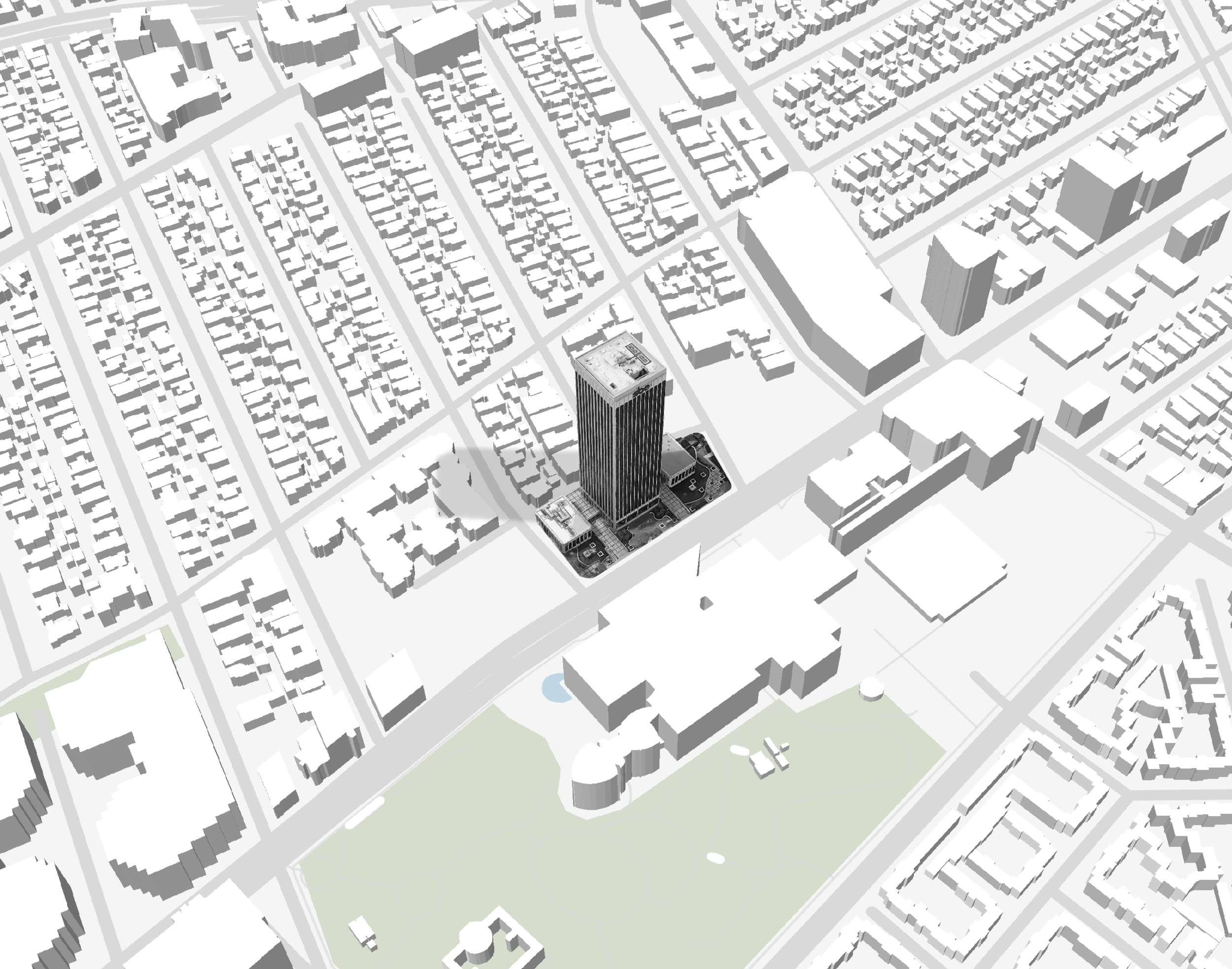los angeles wilshire miracle mile 3d site plan map.png
