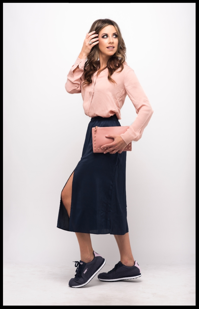 Suits & Sneaks H&M Slit Skirt Dress Up