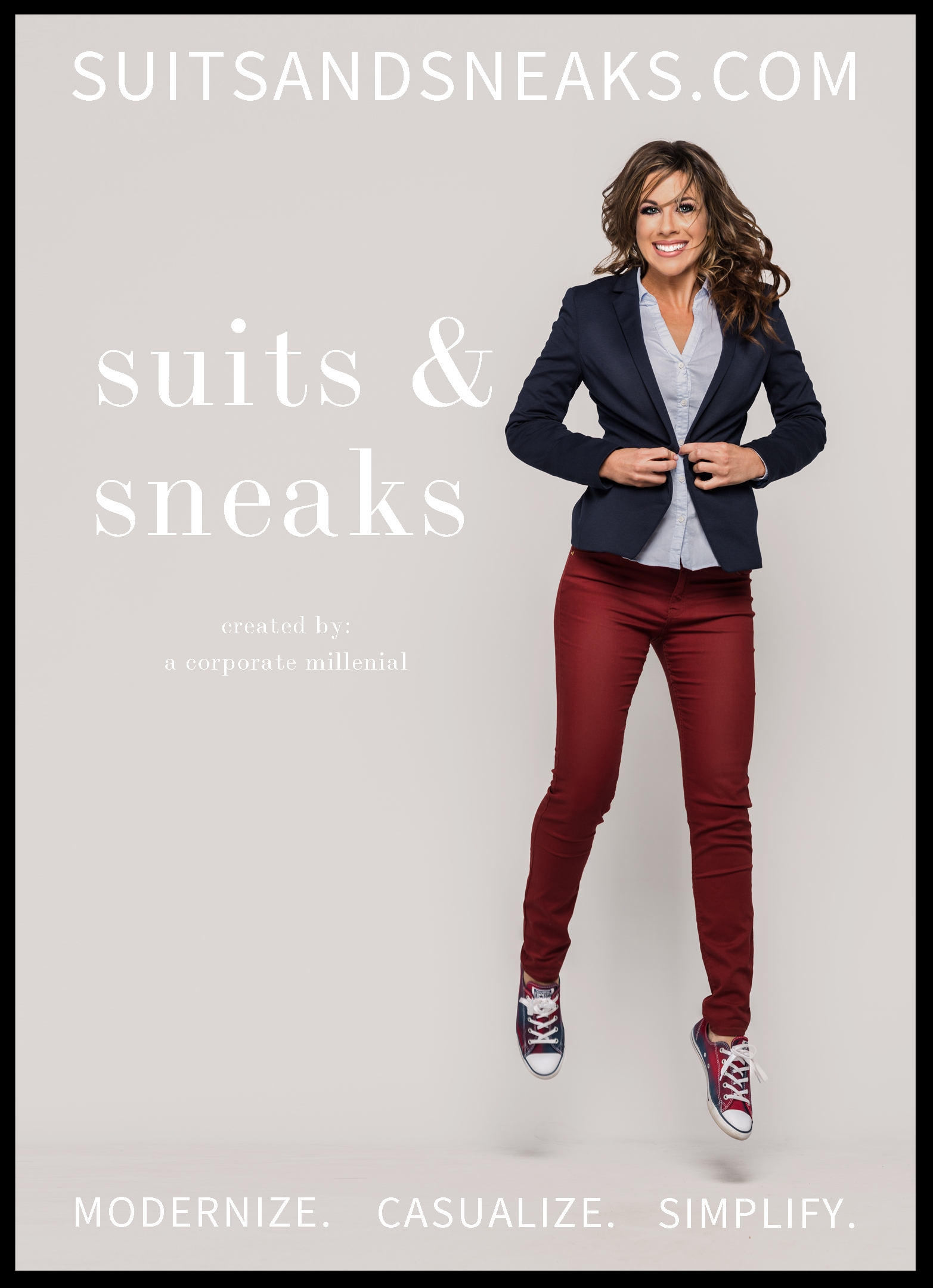 Suits & Sneaks Advertisement - Polished casual fashion