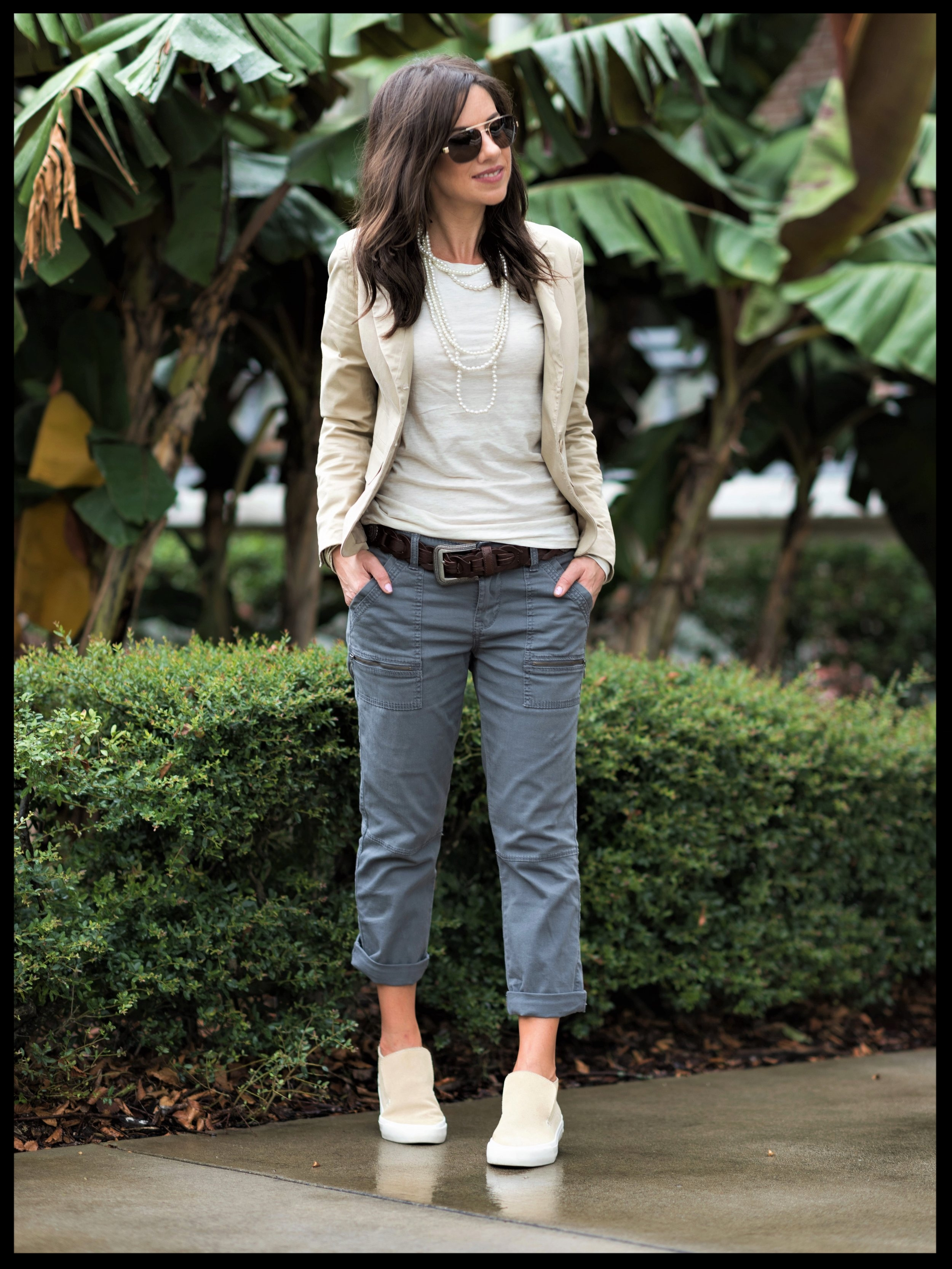 Offset Casual With a Dose of Glam - For the Perfect Polished Casual Look.