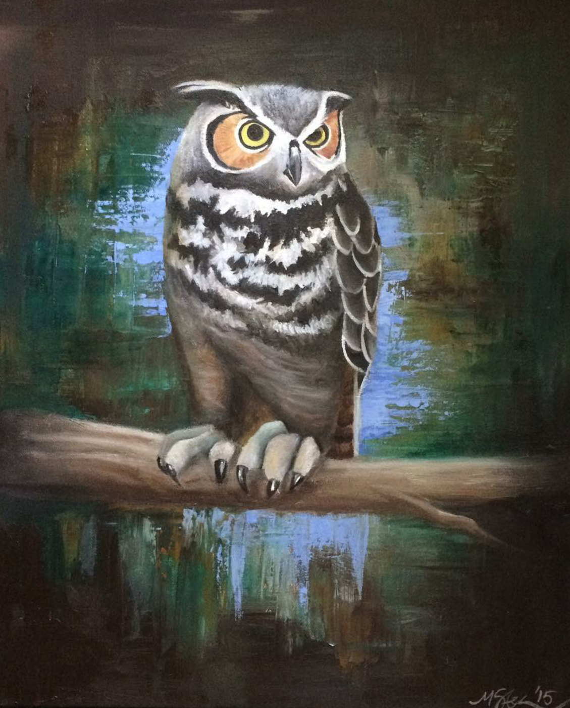 """""""Wise Forester"""" -2015 Oil on Canvas"""