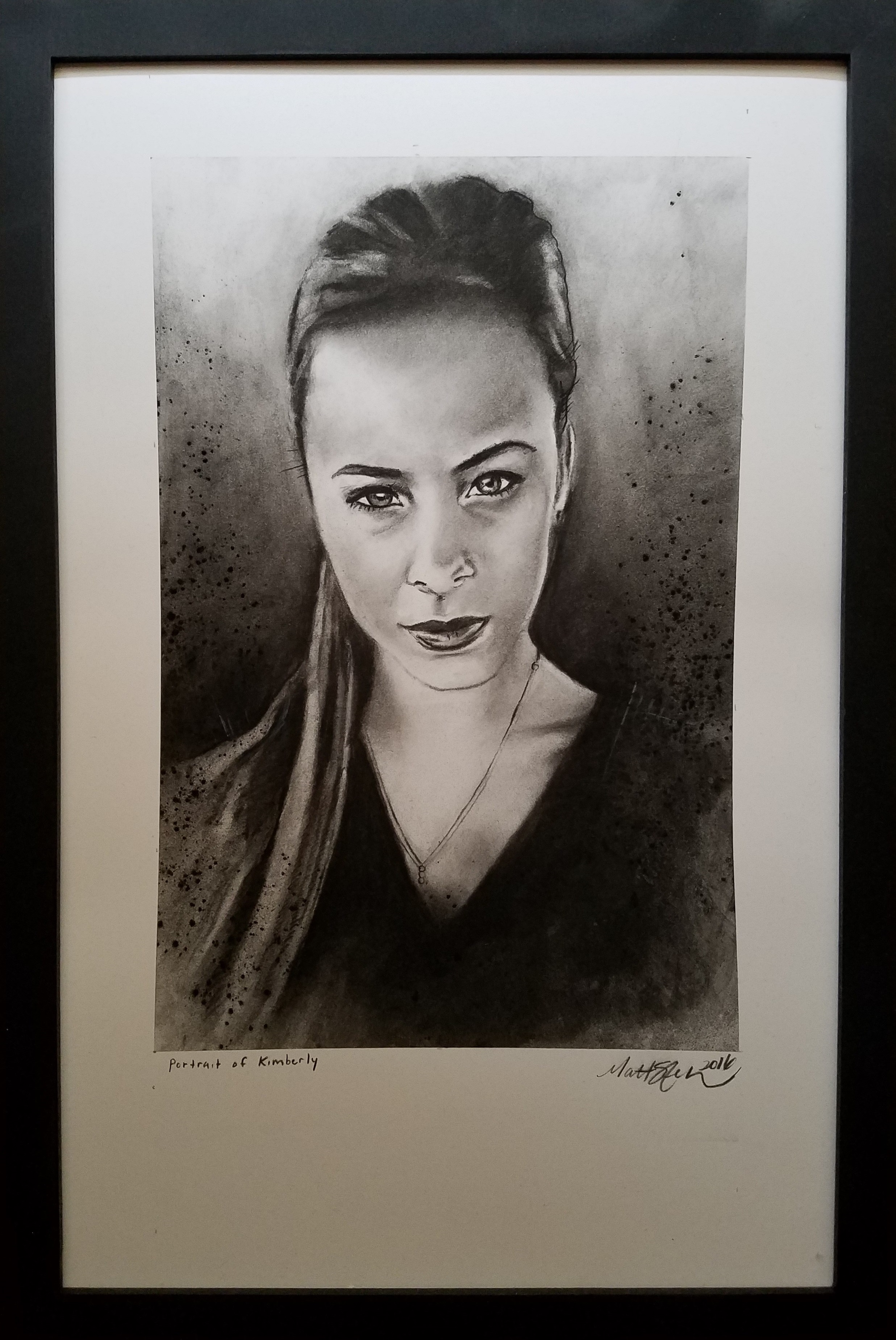 """Portrait of Kimberly"" -2016 Charcoal on Bristol. 11x14 in."