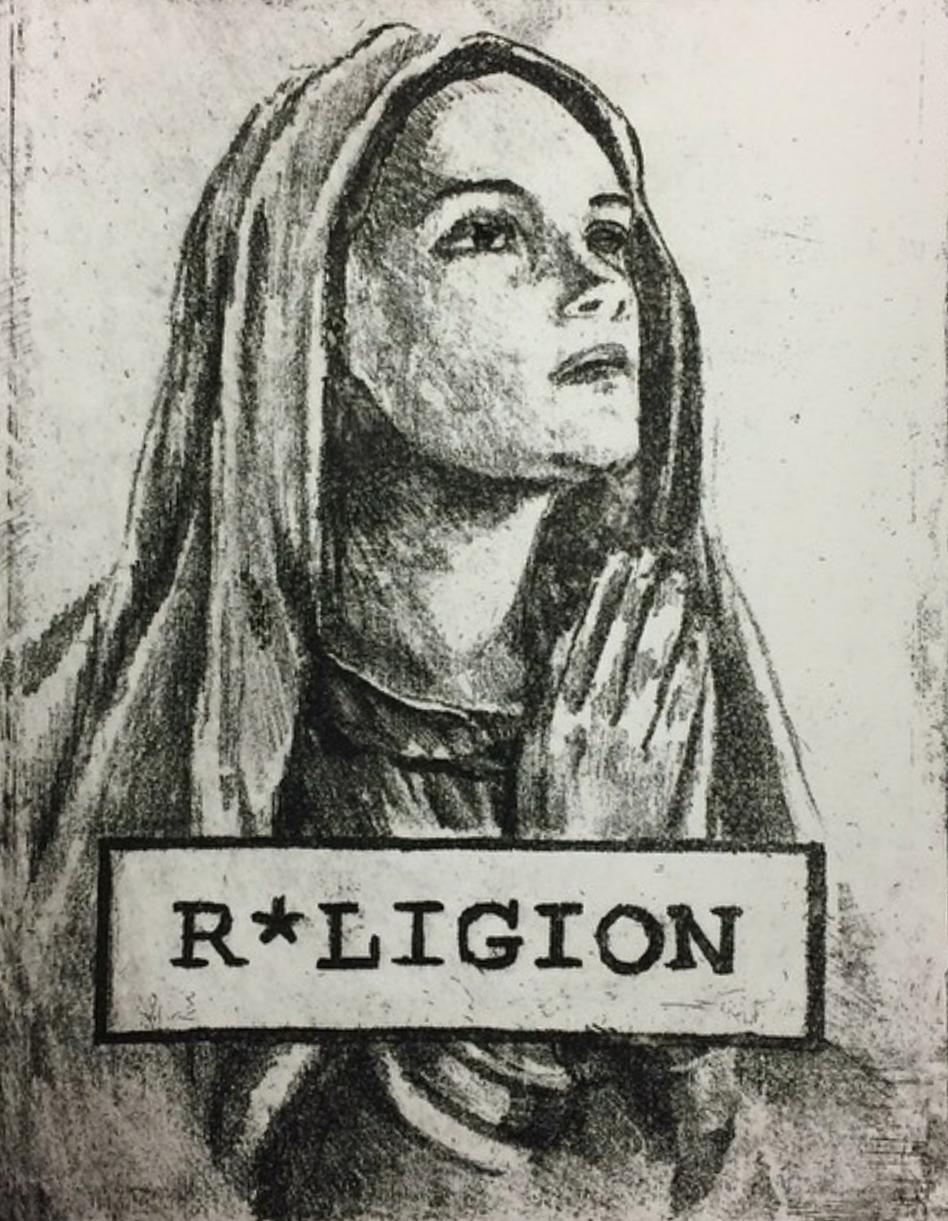 """R*ligion"" -2014 Intaglio print on Stonehenge"