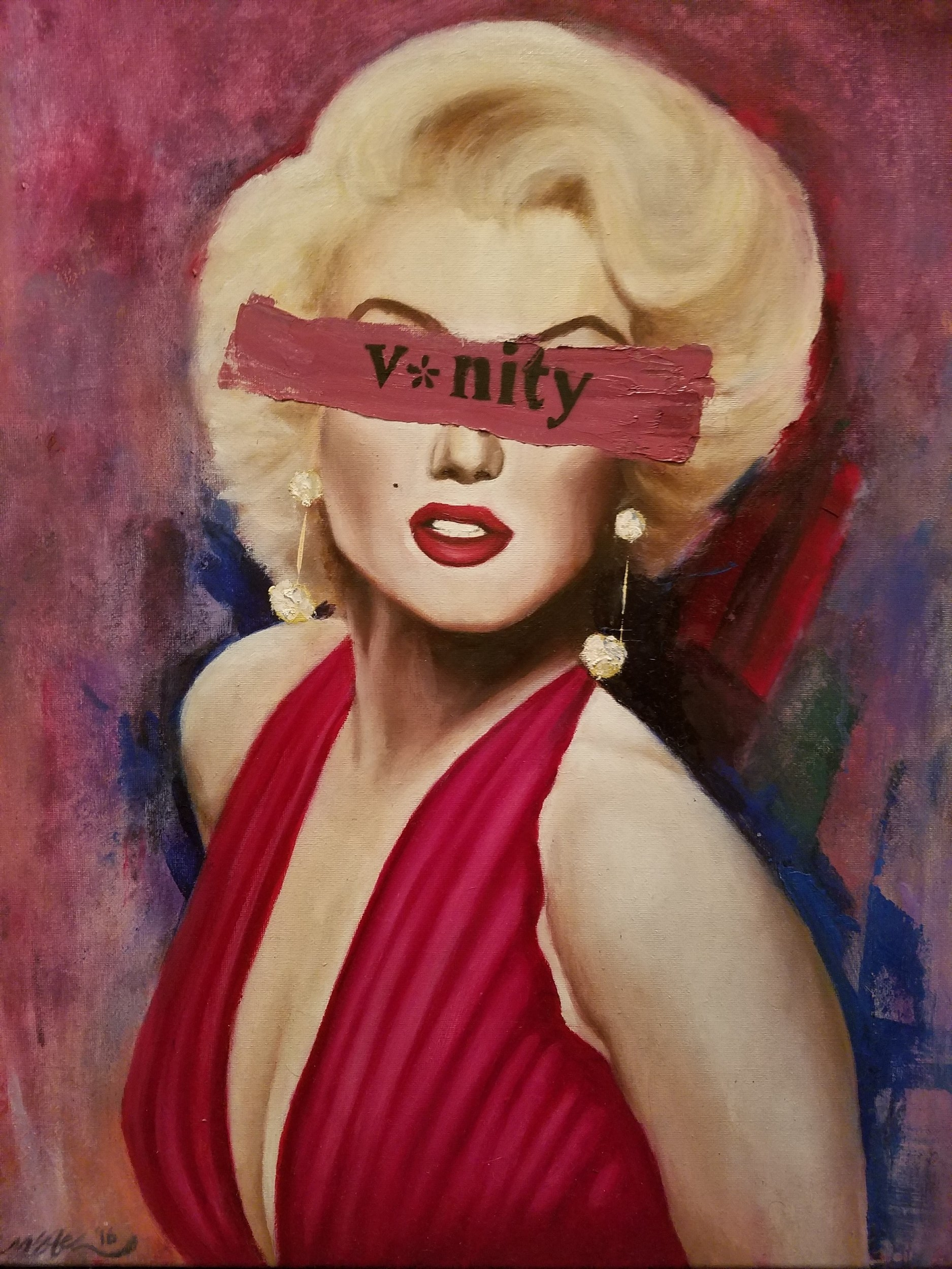 """""""V*nity"""" 2017. Oil on Canvas. 16x20 in."""