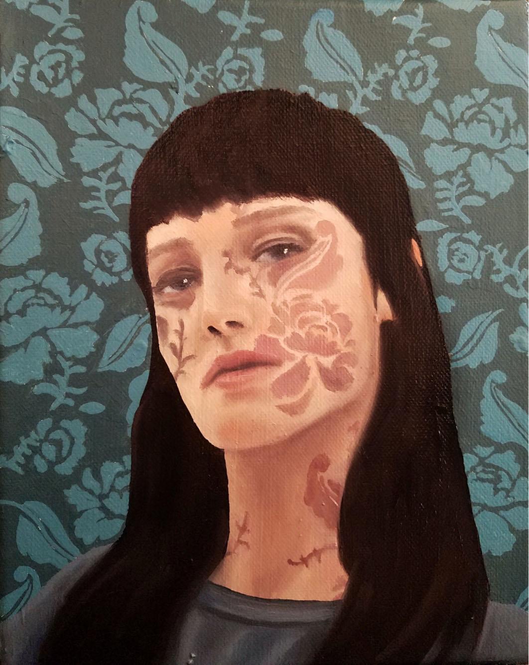 """Hidden Figure"" 2018. 8x10 in. Oil on Canvas."