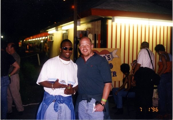 This is the Rye Playland party with Boyz II Men singer Wanya Morris who is far less concerned with his image than Mariah.
