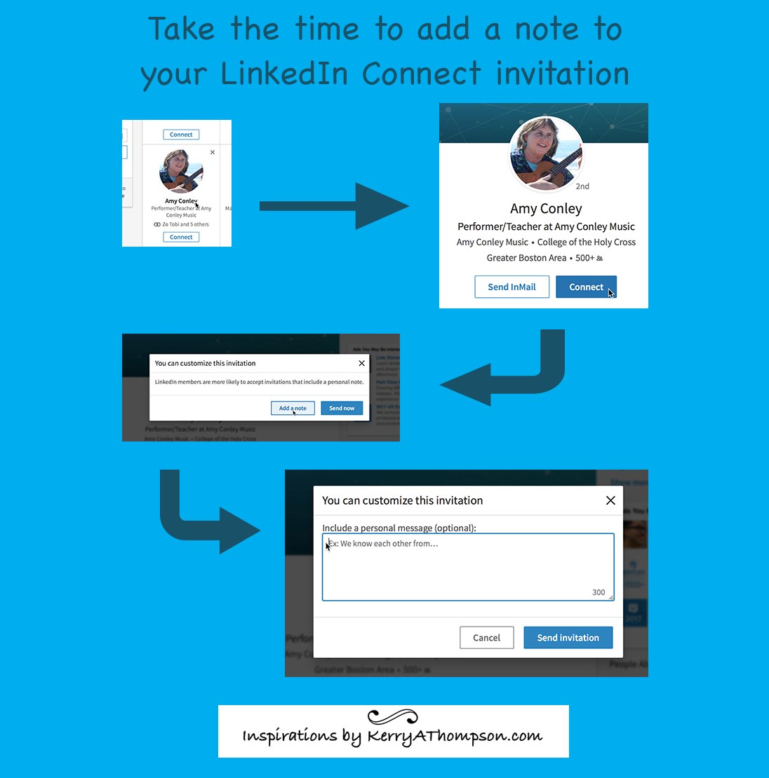 KerryAThompson.com Blog: Take the time to add a note to your LinkedIn Connect invitation