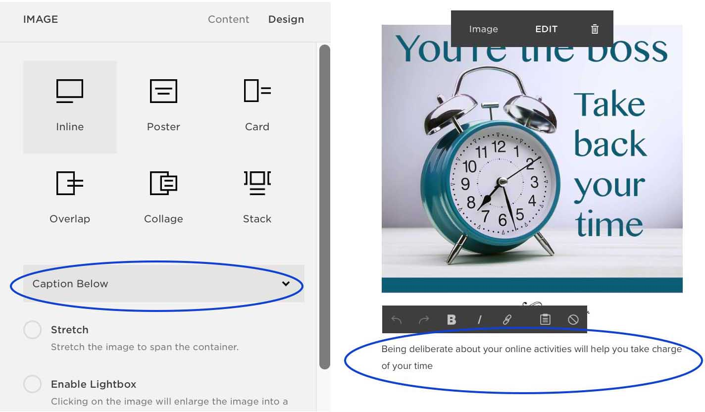 Write a caption and Alt Text for an image in Squarespace for better SEO (KerryAThompson.com)
