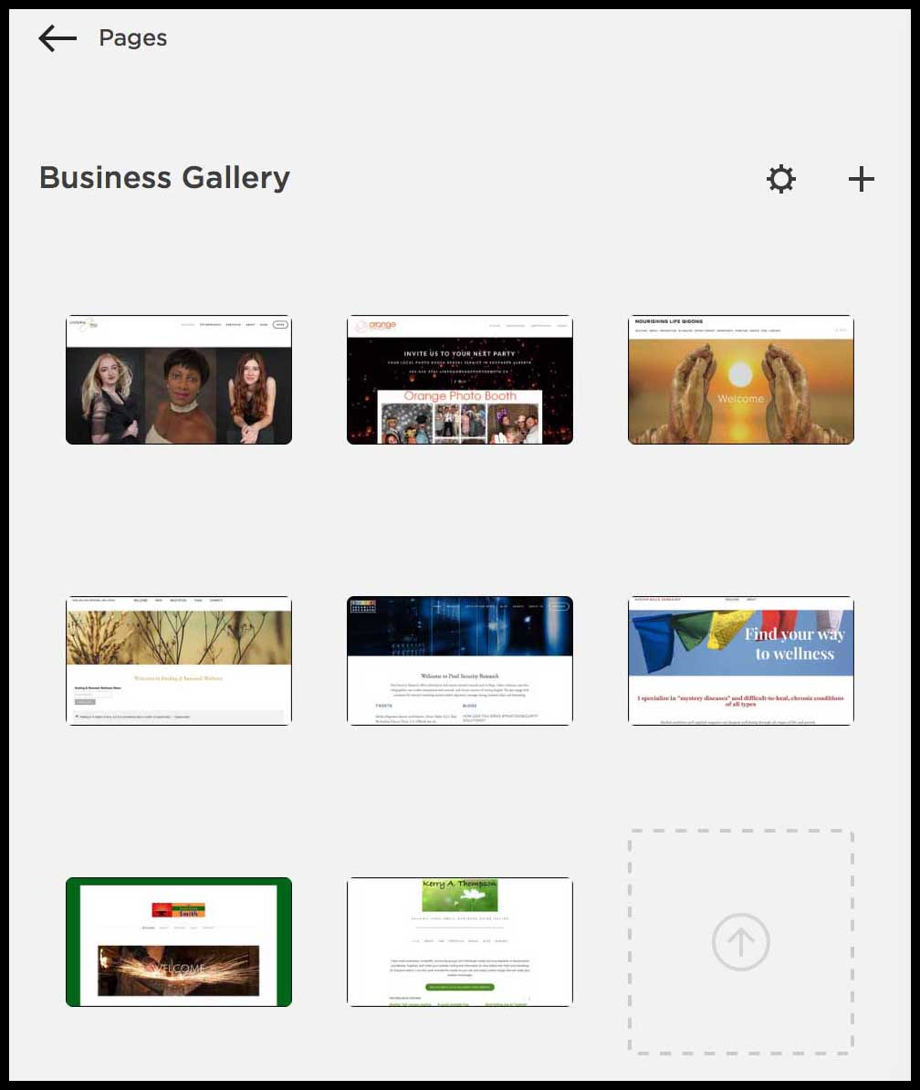KerryAThompson.com Blog: Portfolio Makeover, new Squarespace Gallery page