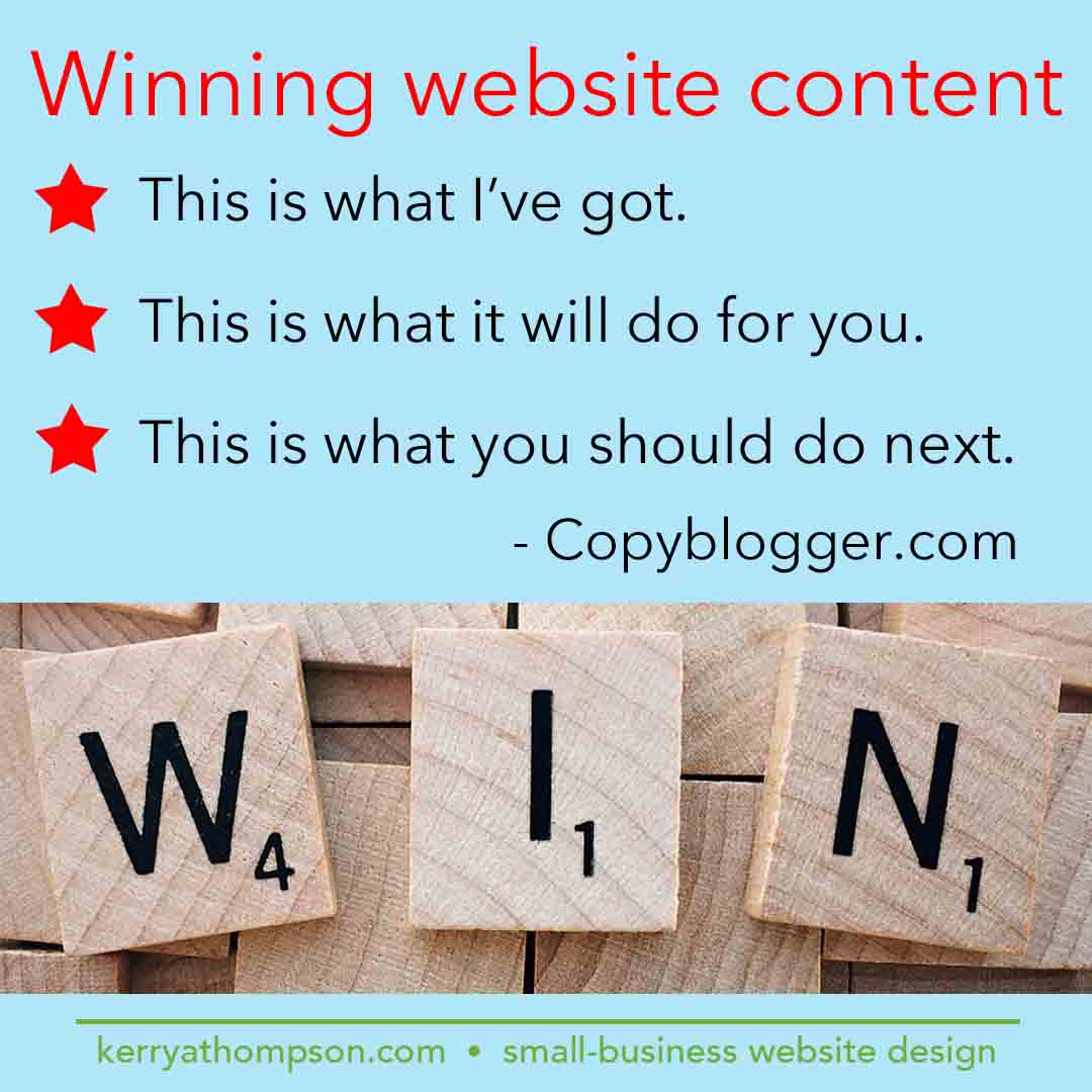 KerryAThompson blog: Winning website content