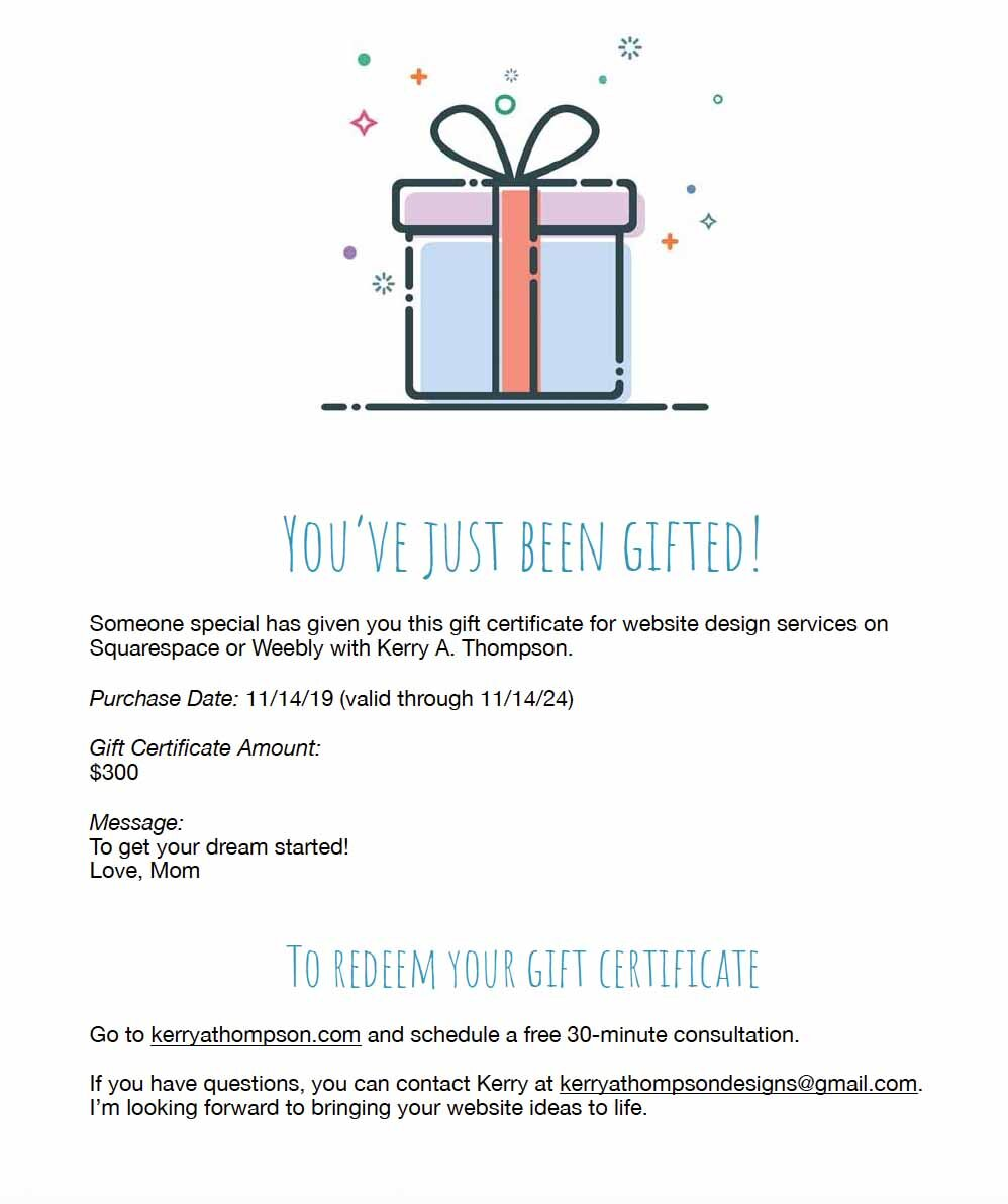 Kerry A Thompson Website Design How To Add A Gift Certificate With A Paypal Button