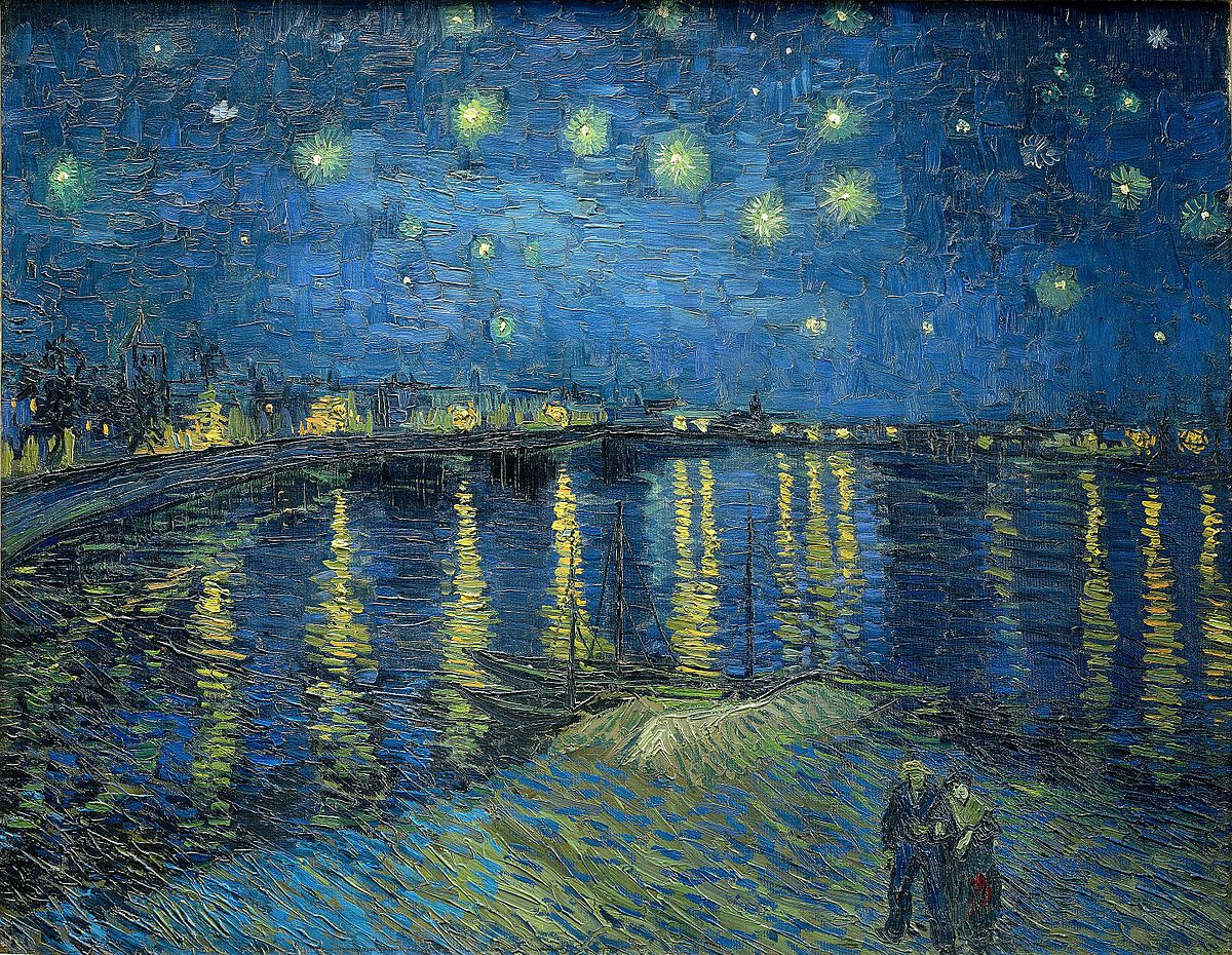 """Starry Night Over the Rhone"" by Vincent van Gogh"