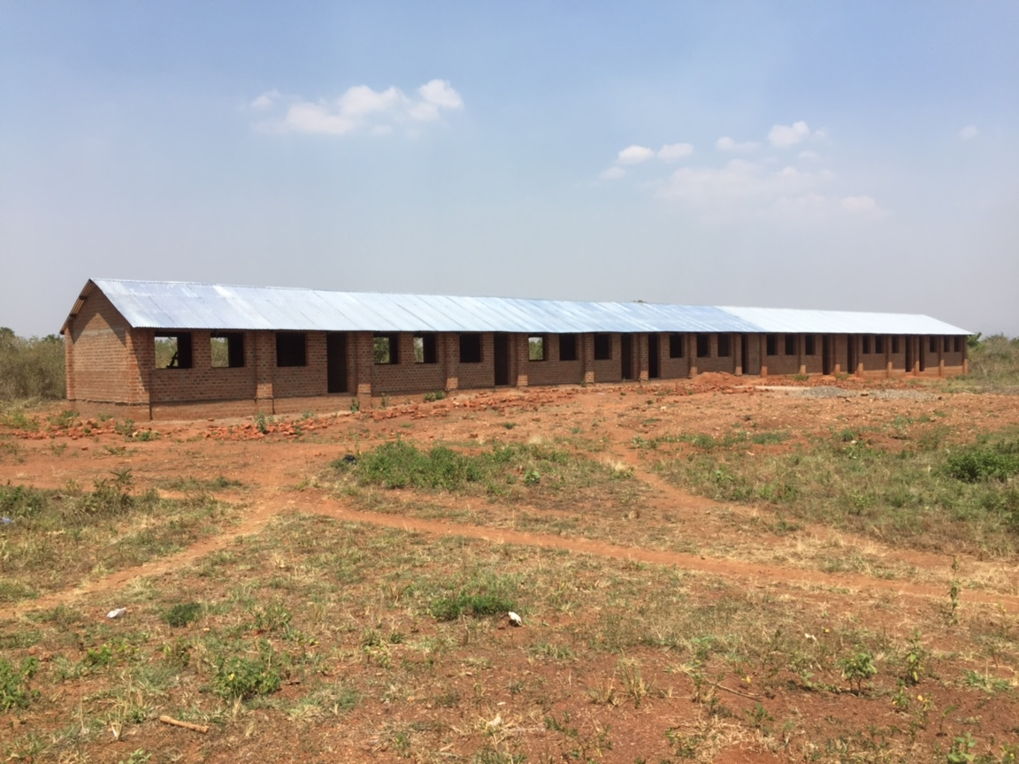 The first 4 classrooms were completed in late 2015/early 2016