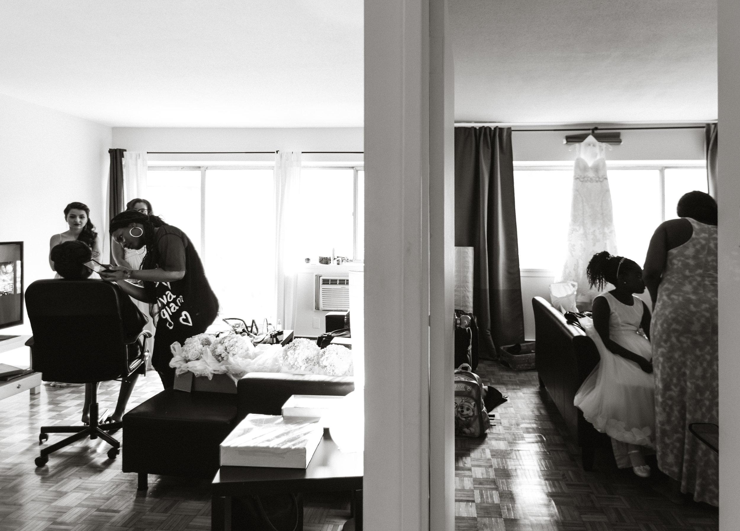 Creative wedding photograph