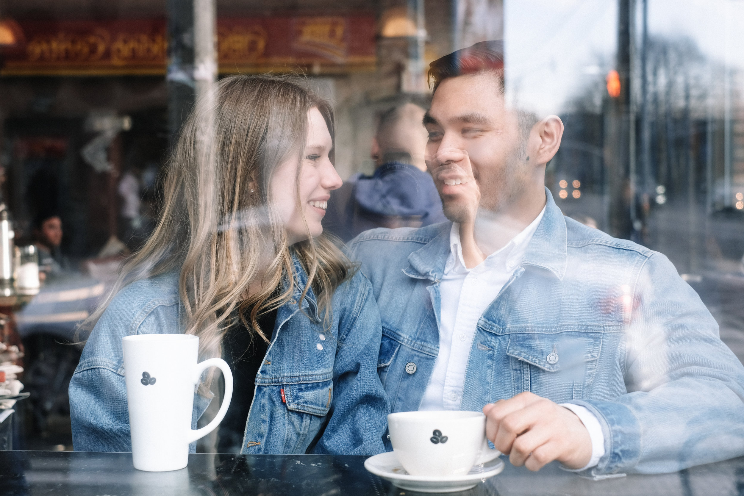 Proposal and engagement at a toronto coffee shop