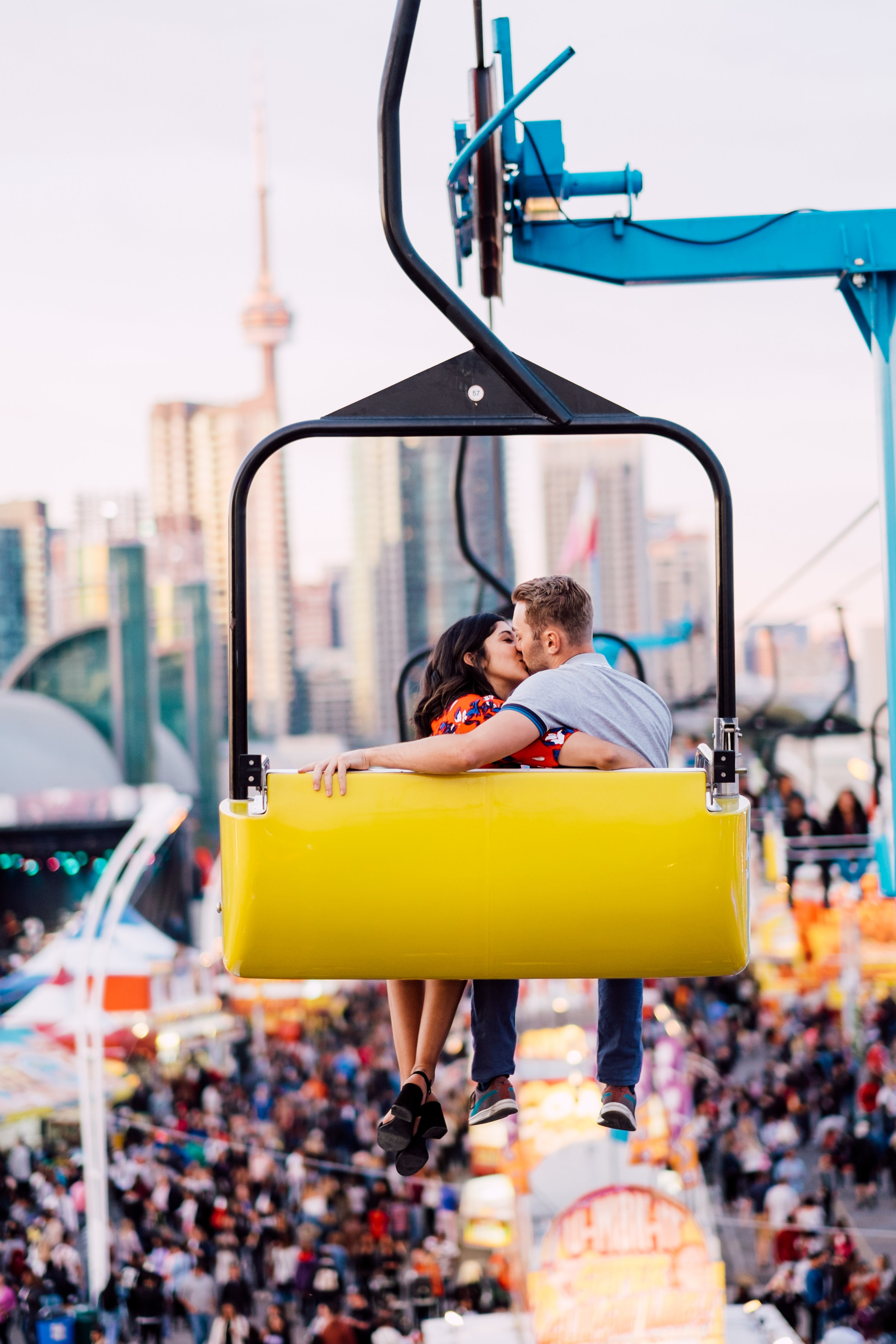 Engagement photography at CNE in Toronto