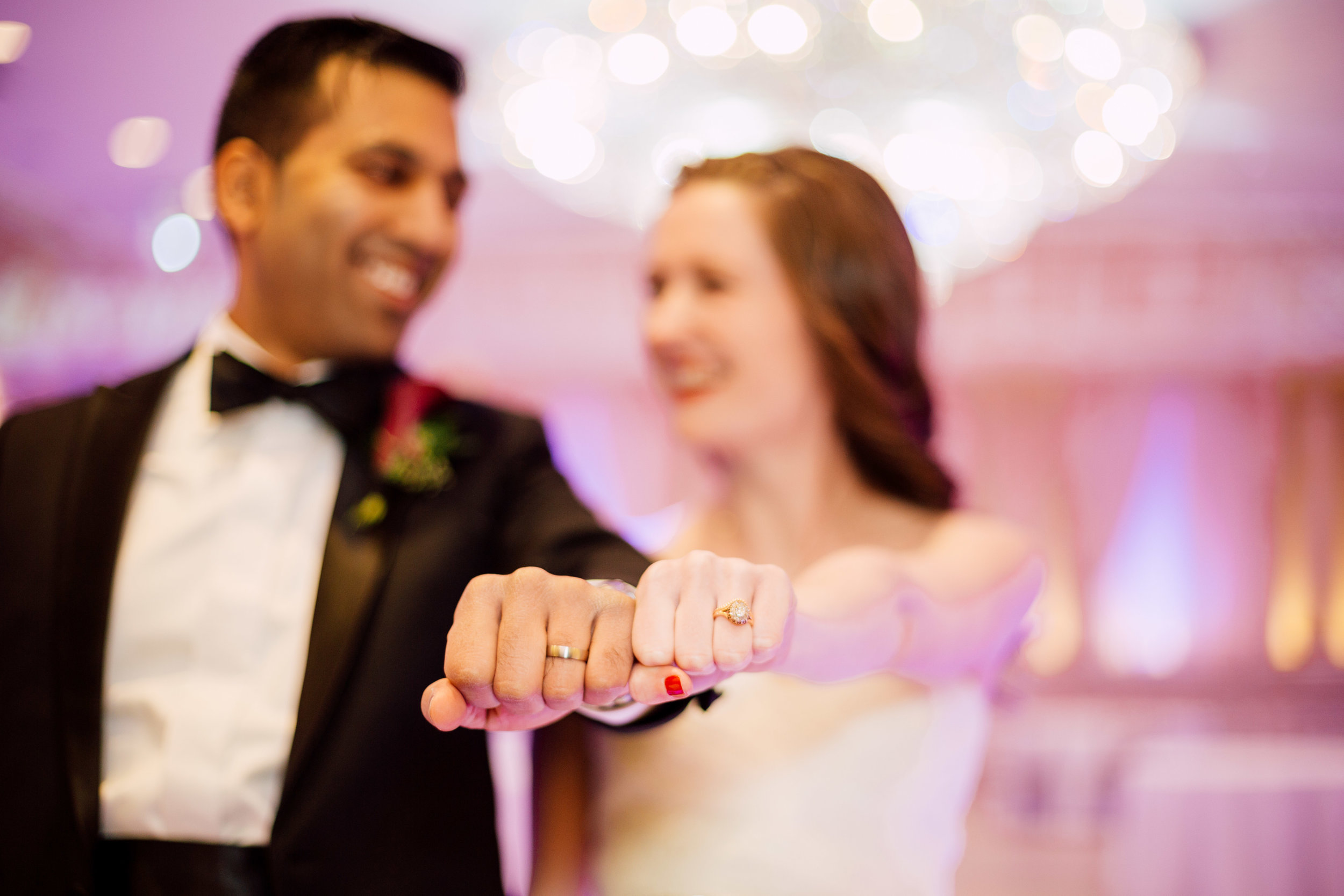 His and hers rings at a toronto wedding