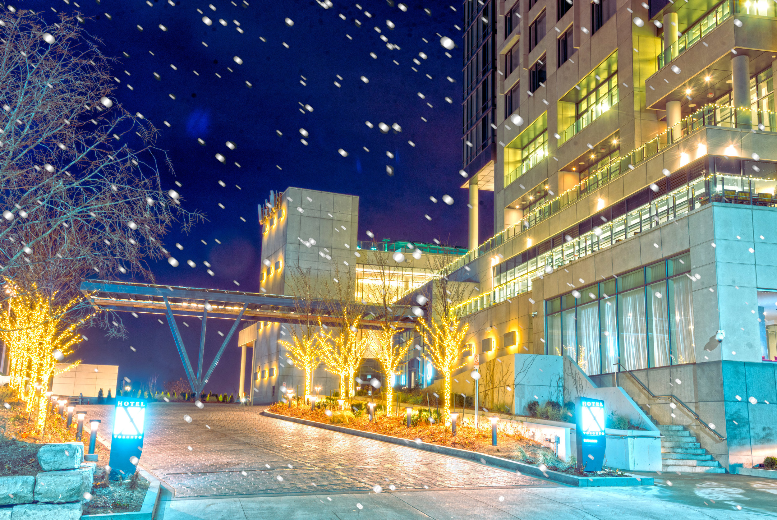 Hotel X HDR with snow