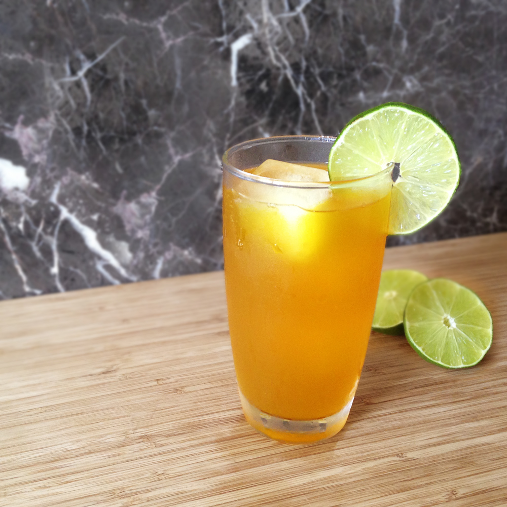 Lime Twist    1 oz  Union Gin  ½ oz  Pearl Beverage Co.      Lime Twist Tea Syrup     Over ice Top with soda water Garnish with lime