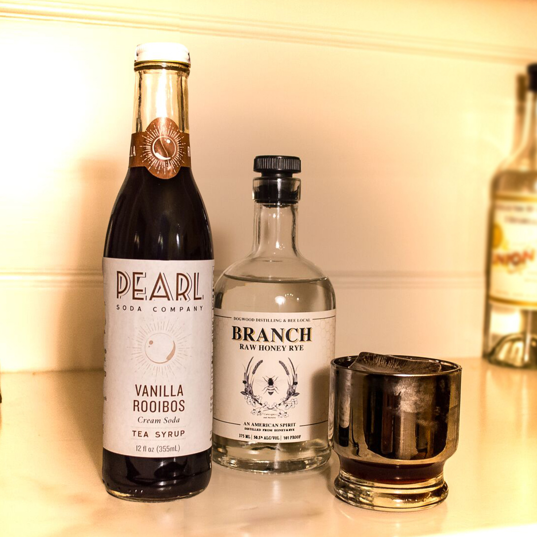 Crown Jewel    1½ oz  Branch Raw Honey Rye  ¼ oz  Krupnik from JVR Spirits  ¼ oz  Pearl Beverage Co.       Vanilla Rooibos Tea Syrup     ¼  dropper of Bee Local Honey Bitters Shake and strain into a chilled martini glass