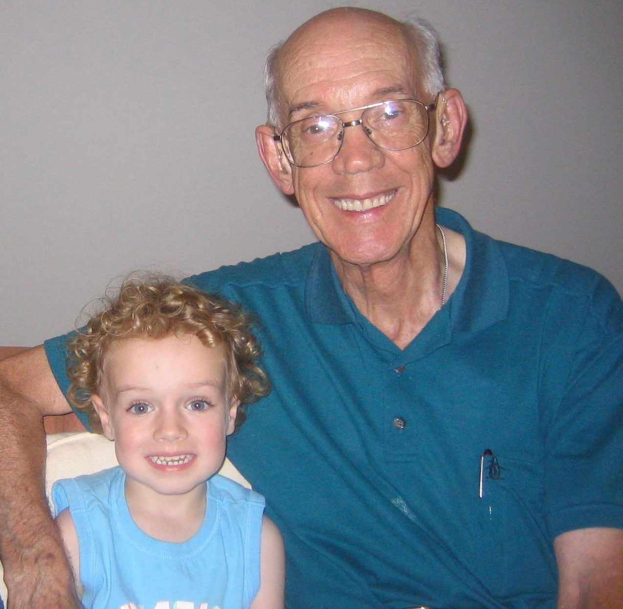 My Dad with my son Levi