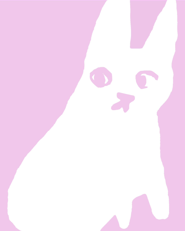 Pink Bunny 8X10 Digital Print $25