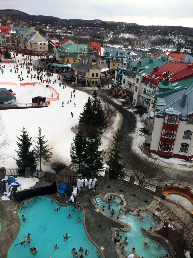 The mountain view from Fairmont - Mont Tremblant