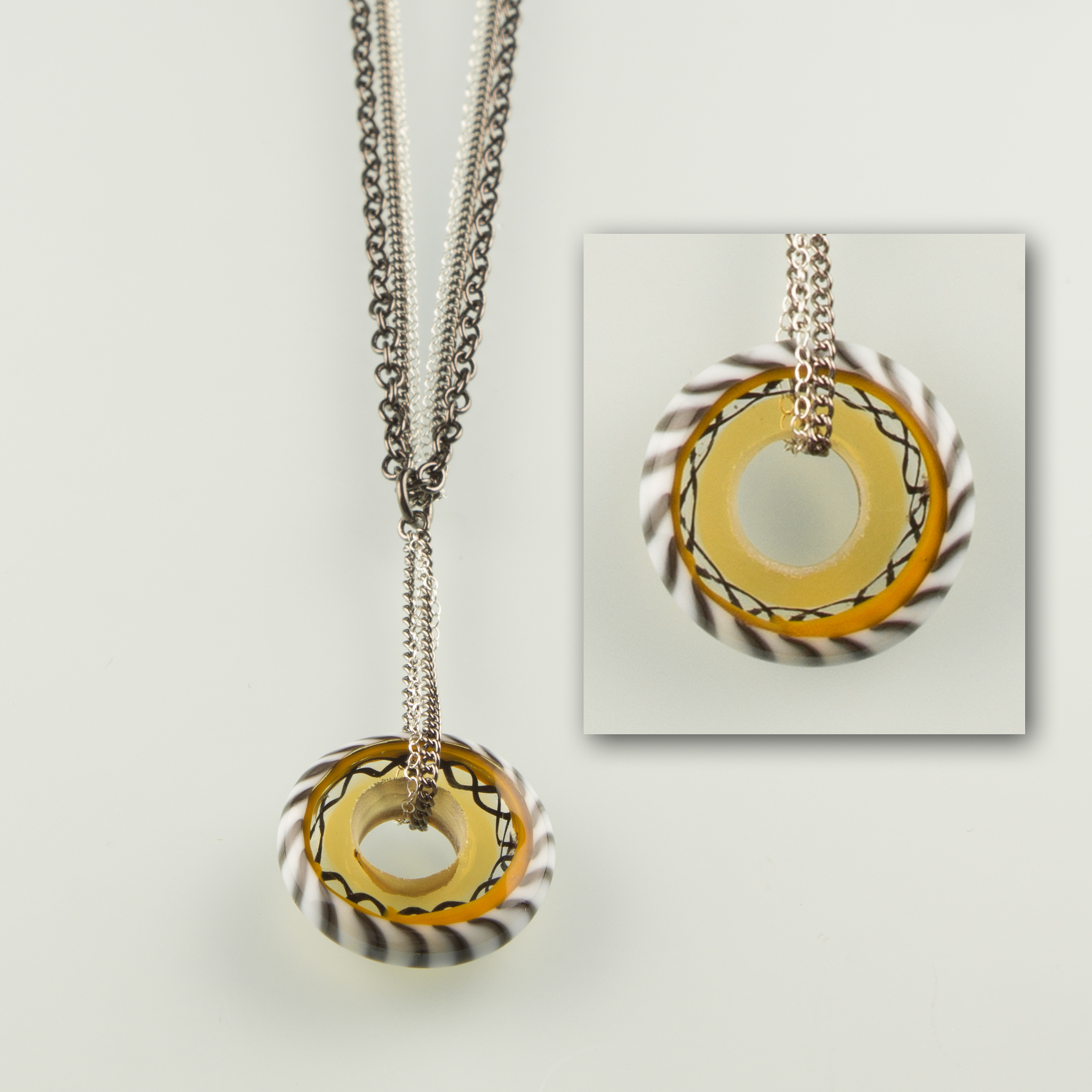 Hand made glass disc beads