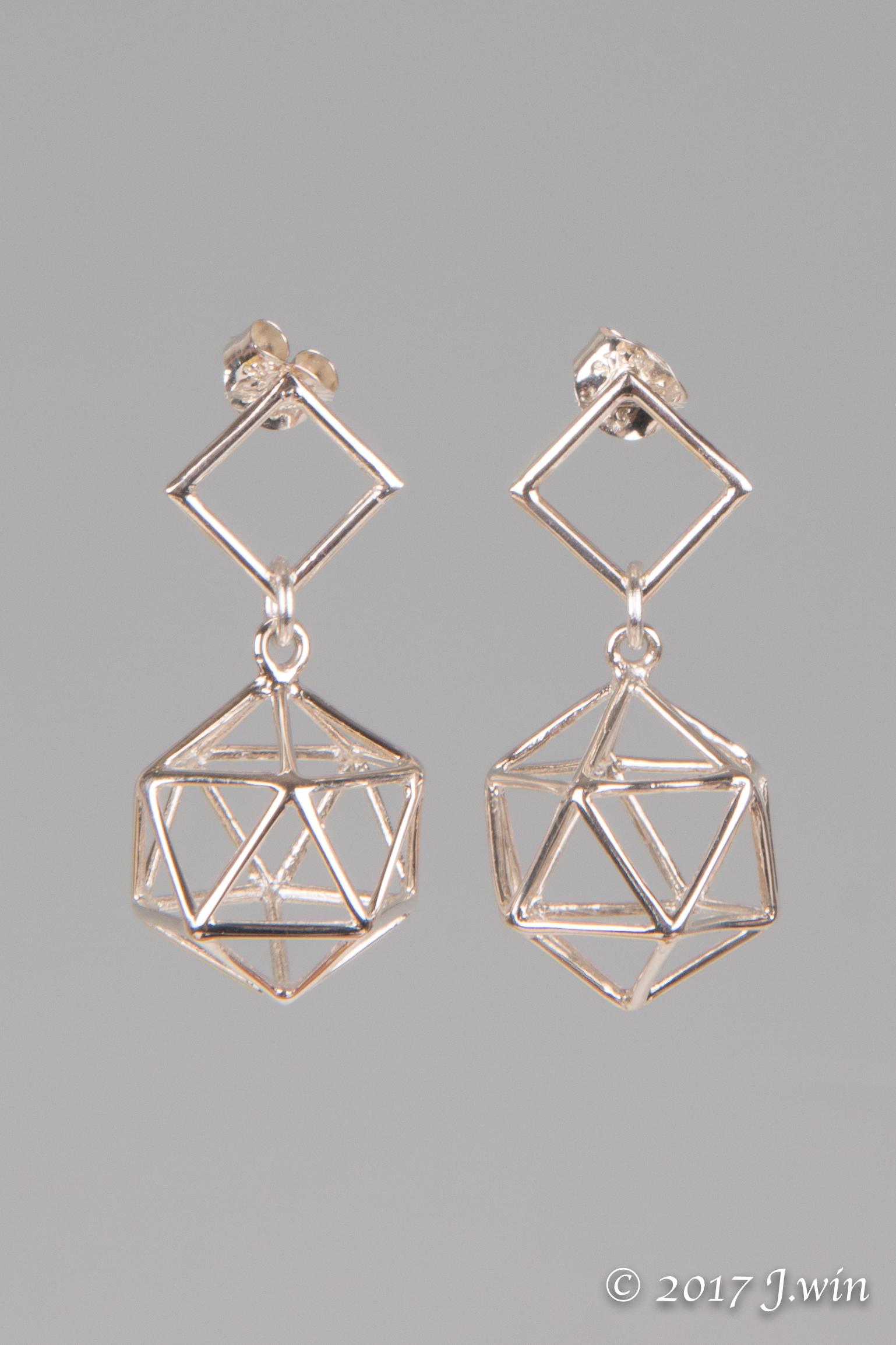 Geometric cage earrings