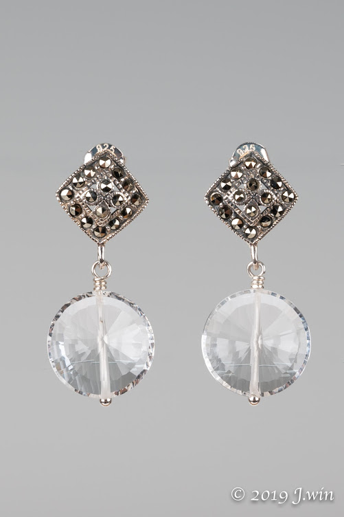 Marcasite and crystal earrings
