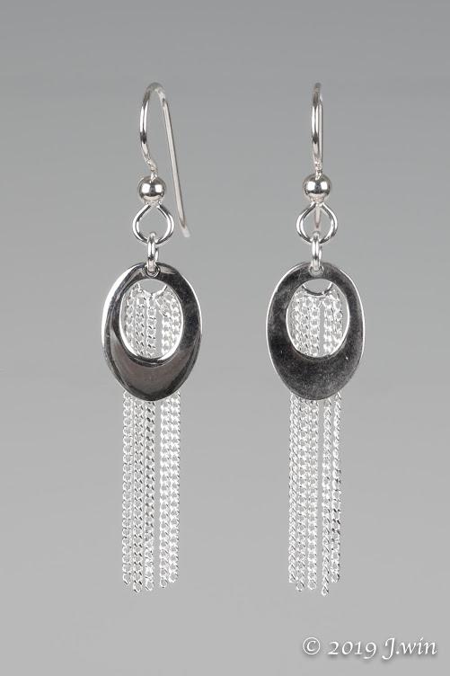 Sterling silver chain earrings